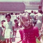 Young Audrey, at her first day of school in DISD